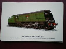 POSTCARD SOUTHERN RLY WEST COUNTY LOCO NO 34051 'WINSTON CHURCHILL'