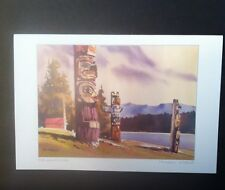 Canada Michael O'Toole The Guardians Totem Poles Print Mailing Card Envelope 6x9