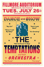 The Temptations at the Fillmore Auditorium in S.F. Concert Poster Circa 1967