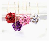 Très joli rose bouquet collier en boules multiple choix