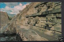 Mexico Postcard - Snake Head at Quetzalcoatl at The Foot of The Pyramid   A8957