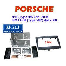 KIT MASCHERINA DOPPIO 2 DIN PORSCHE 911 (997) e BOXTER (987) dal 2008 - NERO