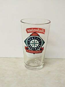 Vintage Budweiser Seattle Mariners Baseball 1995 A.L. West Champions Pint Glass