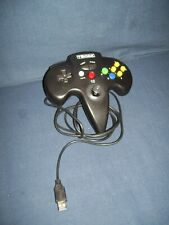 Tomee Nintendo 64 USB Black Controller Tested and Working