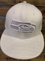 Seattle SEAHAWKS All White New Era Strapback Adult Cap Hat NEW NFL Football