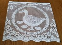 "Vintage/antique Lot Of 6-18"" x 17"" Lace Animal Duck Fabric Panels Cotton"