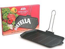 GRANDE ILSA DIETELLA Grill Padella in ghisa 36x23 cm tutti i tipi di piastre a induzione Inc.