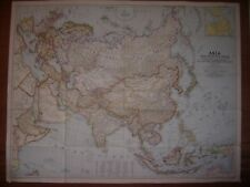 Vintage map of ASIA in excellent condition.