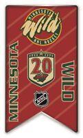 2020 -2021 NHL MINNESOTA WILD 20TH ANNIVERSARY PIN BANNER STYLE STANLEY CUP ?