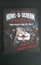 Busch Gardens Tampa Howl O Scream Georgie Ambassador Pin Hos W/ Program/Map