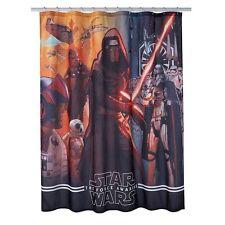 "Disney Star Wars Force Awakens Fabric Kylo Ren Shower Curtain 70""x72"" Brand New"