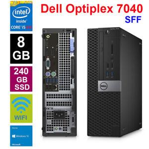 Dell 7040 Mini PC Core i5-6500 3.2GHz 8GB 240GB SSD Windows10 Desktop Computer