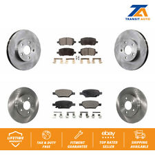 Front Rear Brake TQ Disc Rotors And TEC Ceramic Pads Kit 2007-2010 Pontiac G5