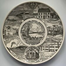 1972 NORTHUMBERLAND, PA, POINT TOWNSHIP BICENTENNIAL PLATE, KETTLESPRINGS KILNS