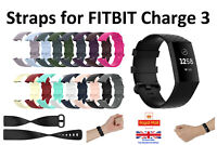 For Fitbit Charge 3 Strap Replacement Silicone Wristband Band Watch Wrist Straps
