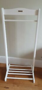 Childs White Wooden Dressing Up Rail Izzywotnot great condition