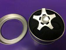 New Light Aluminum Hand Fidget Spinner Fastest Bearing Desk Toy Silver Gift Box