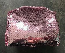 Birchbox Two Tone Pink & Silver Sequinned Small Make Up Bag