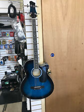 BCP Acoustic Electric Bass In Blue