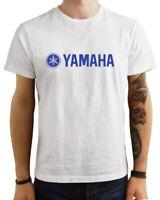 T-Shirt Yamaha moto gp mxgp uomo maglia maglietta 100% cotone nera bianca blu
