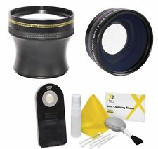 58MM 4.7X ZOOM LENS + WIDE ANGLE + REMOTE FOR CANON EOS  REBEL SL1 T5I SL2 T7 7D