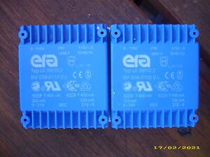 2 x  Flach-Transformator Trafo ERA  2x21V ( 1x 42V ) 2x115V (230V) 14VA , NEU !
