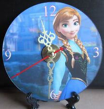 Brand New Anna from the Movie Frozen Cartoon Animated CD Clock Nice