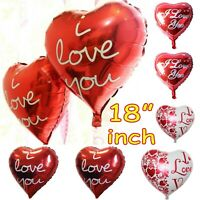 "18"" Inch Valentine heart foil party birthday/wedding baby shower/ helium balloon"