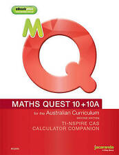 Maths Quest 10+10a for the Australian Curriculum Calculator Companion 2E (Ti & Casio) by Raymond Rozen, Mark Barnes (Paperback, 2014)
