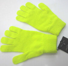 Paul Smith NEON YELLOW GLOVES 100% Wool - One Size - Made in the UK
