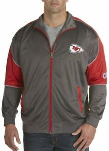 Kansas City Chiefs Full Zip Track Jacket 2XL TALL Embroidered Logos Majestic NFL