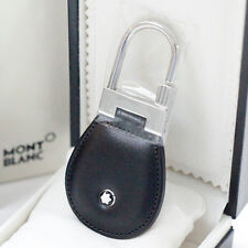 MONTBLANC Full Grain Leather Black Key Fob/Chain 14085. Key Ring. Free Shipping*