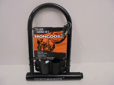 Mongoose Large Bicycle U-Lock Pacific Cycle MG75414 - Free Shipping