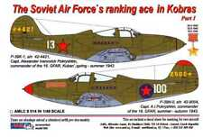AML Models Decals 1/48 SOVIET AIR FORCE'S RANKING ACES IN P-39 AIRACOBRAS Part 1