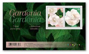 GARDENIA flower = Canada 2019 #3166 = MNH-VF Souvenir sheet of 2