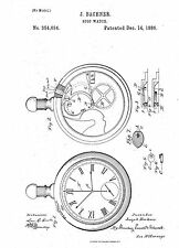 Stop Watch Design - Copy of Patent dated 1886