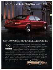 1998 MAZDA 626 LX V6 Vintage Original Print AD - Red car photo french canada