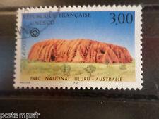 FRANCE 1996, TIMBRE SERVICE 114, UNESCO, oblitéré, ULURU AUSTRALIA
