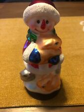 Pacconi Mercury Glass Snowman Measuring 6 1/2 Inches Tall