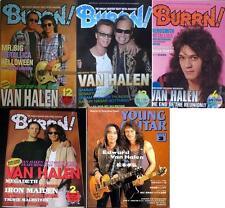 Van Halen on COVER LOT of 5 Japan Magazines RARE! David Lee Roth