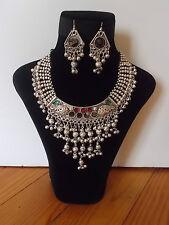 Parure, Collier Tribal et Boucles d'oreille ,  Artisanat Inde,  Kutch Gujarat 14