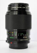 CANON FD 100 mm. f. 4 macro