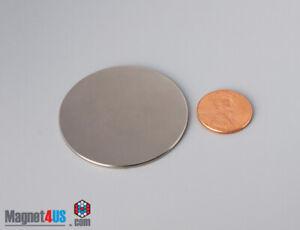 "44mm x 1.5mm  1 3/4"" x 1/16""  N45 Strong  Rare Earth Neodymium Disc Magnets"