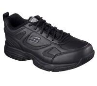Work Black Skechers Shoes Women Memory Foam 77200 Slip Resistant EH Hazard Safe