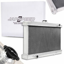 JAPSPEED UNIVERSAL 100MM HIGH FLOW ALUMINIUM ALLOY RACE SPORT RADIATOR