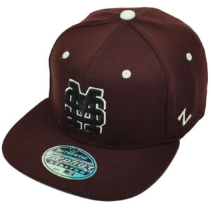 NCAA Zephyr Mississippi State Bulldogs Fitted Medium/Large Flat Bill Hat Cap