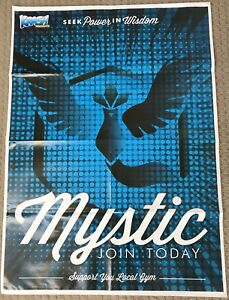 Pokemon Go Team Mystic Join Today & Mewtwo Double Sided Poster Nintendo