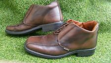 Mens Kickers Kick brown Leather mid high top Ankle Boots Shoes Size 8 EU 42