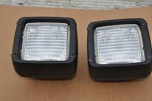 Matching Pair of Hella FF Work / Spot Lights, JCB Telehandler