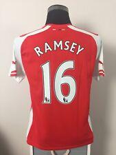 RAMSEY #16 Arsenal Home Football Shirt Jersey 2014/15 (M)